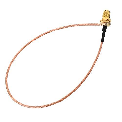 GESSIE Qwe1 Cable de extensión de 5pcs 35cm U.FL IPX a RP-SMA Distaff Antenna RF Pigtail Cable de Cable de Cable para PCI WiFi Card RP-SMA Jack a IPX RG178 YC0304