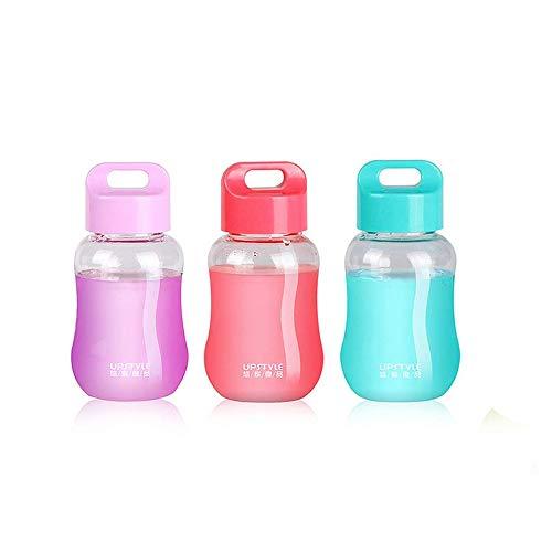 JiLIGUALA Mini tazas de plástico de viaje para café, té, zumo de 180 ml, transparente, paquete de 3