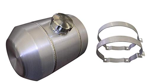 8x10 Center Fill Round Spun Aluminum Gas Tank - 2 Gallon - Motorcycle - Tractor Pulling - Ratrod - Dune Buggy - Trike - Baja Bug - 3/8 NPT - Made in the USA!