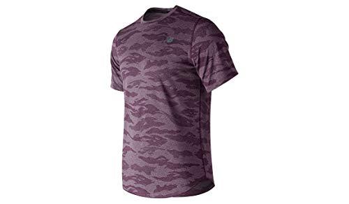 New Balance heren Shirts Quattro Speed Breathe T-Shirt - Lila, Flieder