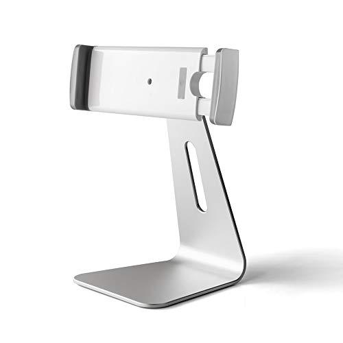 SWNN Mesa Plegable Soporte De Teléfono/Tableta Plegable De Plata, Tableta (7-13 Pulgadas) Y La Otra for Teléfonos Inteligentes, Soporte De Escritorio De Aluminio Ajustable De 180 °