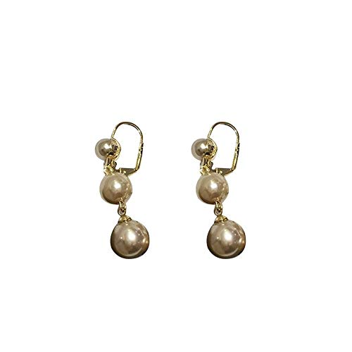 Family Needs Fashion Soft Ear Clip Temperament eenvoudige oorbellen Baroqueness Style lange sectie Ear Ornamenten (Color : Champagne pearl)