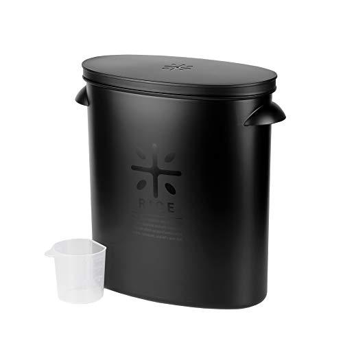 【BLKP】 パール金属 日本製 米びつ 5kg用 限定 オール ブラック 袋のまま 収納 BLKP 黒 AZ-5042