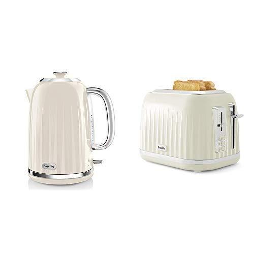 Impressionen Wasserkocher & Toaster Set mit 2 Scheiben Toaster & Wasserkocher, Creme
