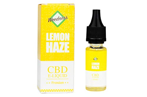 Weedness CBD Öl E-Liquid Super Lemon Haze 1000 mg - Pen Bio Hanföl Starterset E-Zigarette Verdampfer Dampf Set Oil Vaporizer