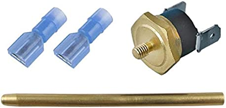 American Volt Electric Fan Push-in Radiator Fin Brass Probe Thermostat Temperature Switch Sensor Kit (1-Pack, 140'F On - 125'F Off)