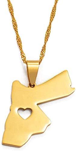 NONGYEYH co.,ltd Necklace Jordan Hashemite Kingdom Pendant Necklace Ladies Men Gold Necklace Gift