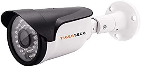 TIGERSECU Super HD 1080P Hybrid 4-in-1 Security Camera with OSD Switch, for TVI/CVI/AHD/D1 DVR, Weatherproof for Indoor/Outdoor Use (Power Supply and Coaxial Cable Sold Separately)