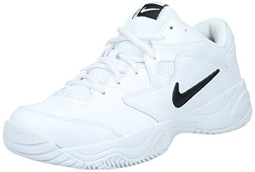 Nike Court Lite 2, Zapatillas de Tenis Hombre, Blanco (White/Black/White 100), 45 EU