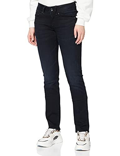 G-STAR RAW Midge Saddle Mid-Waist Straight' Jeans, Bleu (DK Aged 8971-89), 26W / 30L Femme