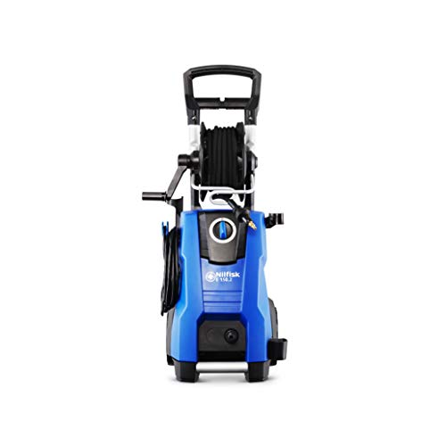Nilfisk E 150.2-10 H X-TRA - Limpiador de Alta presión con Manguera Armada (150 Bares, 2100 W, 240 V), Color Azul