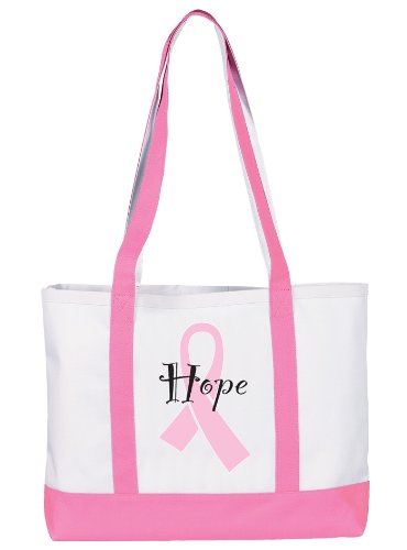 NCD Medical/Prestige Medical 705-PRH Large Canvas Tote Bag - Pink Ribbon Hearts