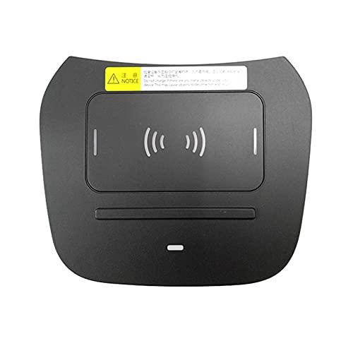 Jingshi SYUCHENG Cargador inalámbrico de Coche 15W Titular de teléfono de Carga rápida Fit para Hyundai IX45 Grand Santa Fe 2015-2018 (Color : Black)