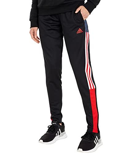 adidas Women's Standard Tiro Track Pants, Black/Vivid Red, X-Small