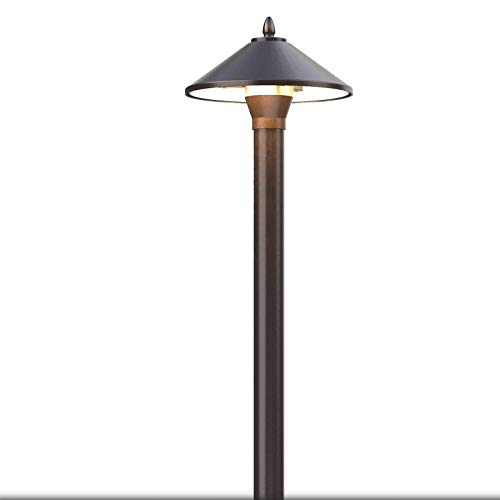 GOODSMANN Landscape Lighting Low Voltage Path Lights 10 Watt Floodlight 25 Lumens Halogen Outdoor Lighting for Garden, Yard, Pathway, with Metal Stake and Connector 9920-9103-01