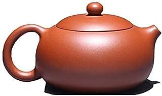 Tea Table Authentic Zisha Pot Pure Handmade Dahongpao Clay Ball Hole Xishi Pot Teapot Household Set Tea Set, Tea, Small, 1...