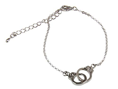 4031697 Petite Handcuffs Chain Link Bracelet Delicate Simple Lightweight Hand Cuffs Police Law Enforcement