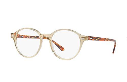 Ray-Ban 0RX7118, Monturas de Gafas Unisex Adulto, Amarillo (Transparente Yellow), 48