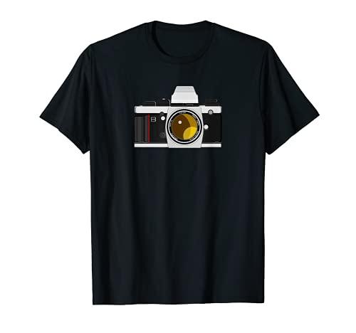 Cámara réflex de 35 mm, regalo para fotógrafos analógicos. Camiseta