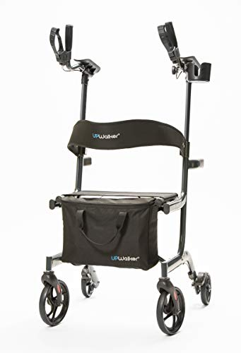 UPWalker Lite Original Upright Walker – Lightweight, Stand Up Rollator Walker & Walking Aid with Seat – ISO Safety Certified – Easier Handling & Compact Design