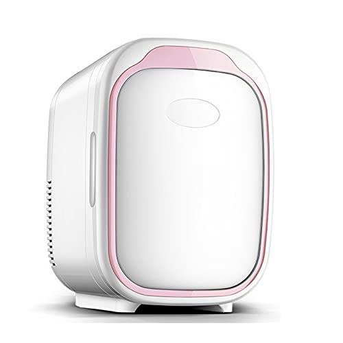 LHY Mini Coche hogar refrigerador de Doble Uso 6L Coche portátil pequeño Caja de calefacción y refrigeración refrigeración refrigeración refrigerador,Rosado