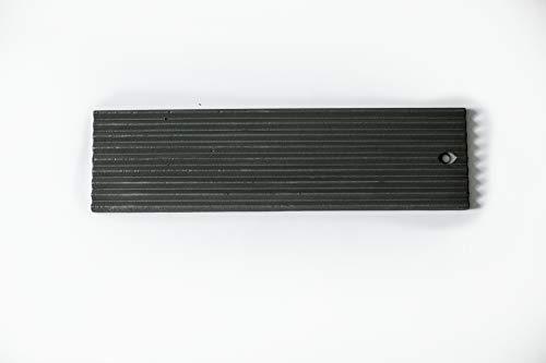 Rippengussplatte 440mmx130mmx13mm aus reinem Guss geeignet als Brennraumverkleidung oder Hitzeschutzplatten für alle Kamine und Kaminöfen