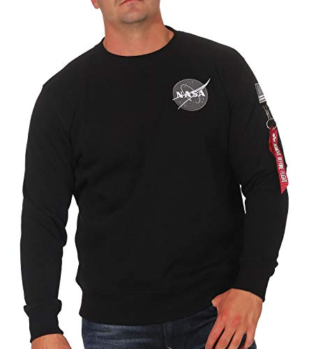 ALPHA INDUSTRIES Sweat Space Shuttle  Noir/Gris/Rouge,  L