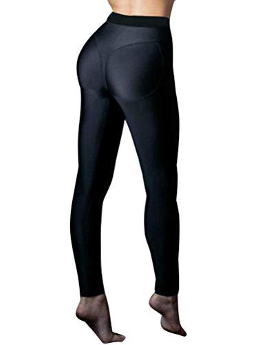 ORANDESIGNE Donna Eleganti Leggings Sport Yoga Fitness Palestra Pantaloni Leggins Push Up Skinny Pantaloni Nero EU Small