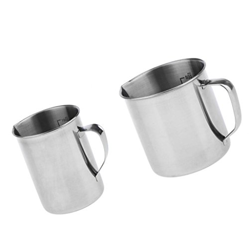 P Prettyia 2 Pieces Stainless Steel Coffee Measuring Cups Accessories Insulation Function