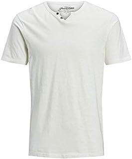 Jack & Jones Men's JJESPLIT NECK TEE SS NOOS T-Shirt