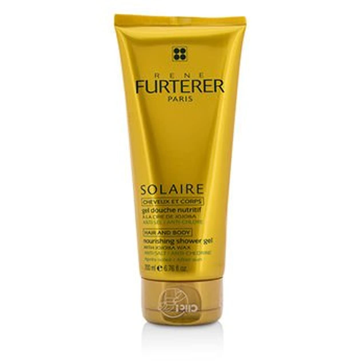 退屈な光修復[Rene Furterer] Solaire Nourishing Shower Gel with Jojoba Wax (Hair and Body) 200ml/6.76oz