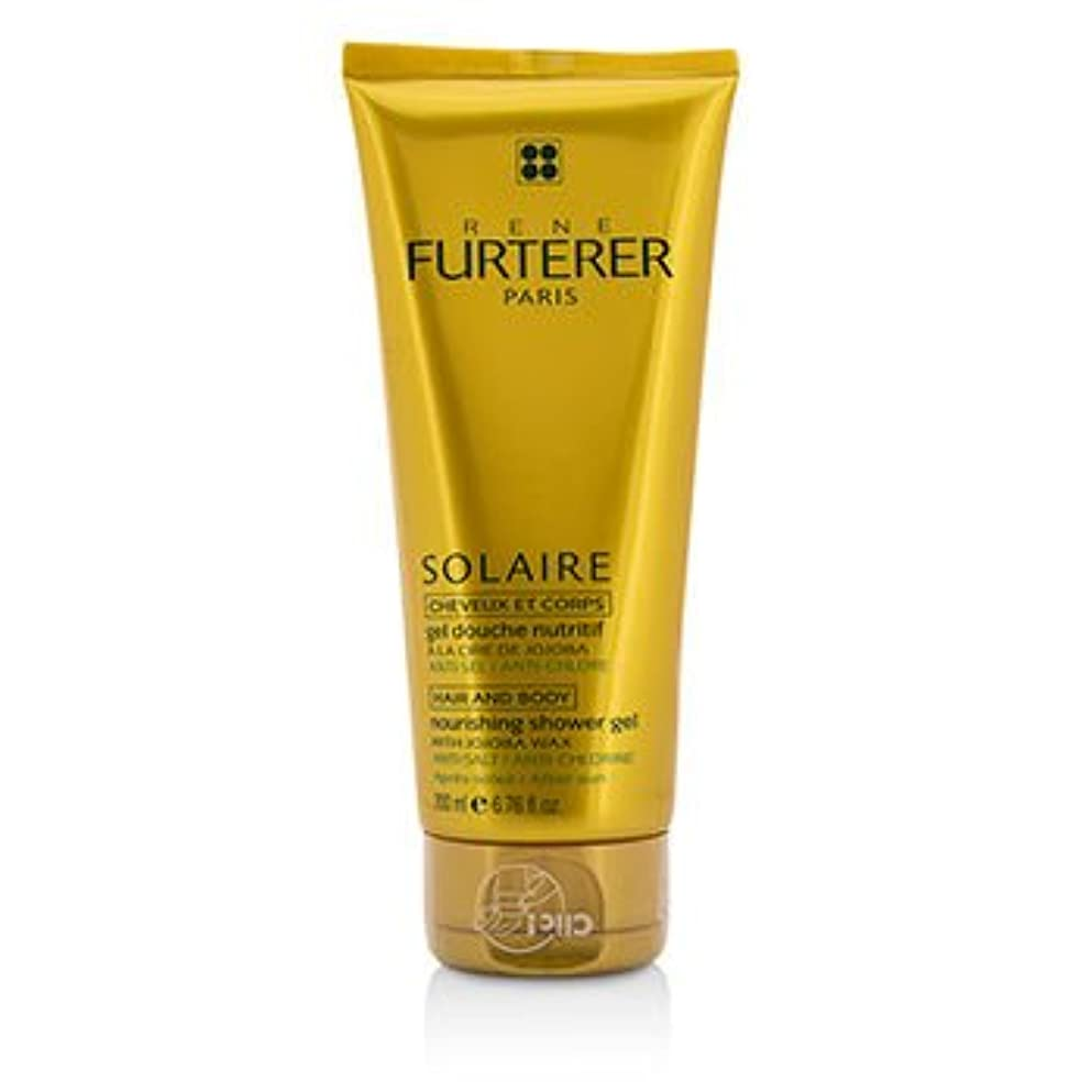 コンピューターゲームをプレイする傭兵電話に出る[Rene Furterer] Solaire Nourishing Shower Gel with Jojoba Wax (Hair and Body) 200ml/6.76oz