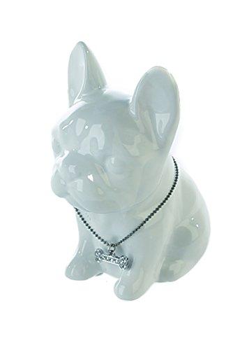 Casablanca Tolle Spardose Bulldogge Mini Dog Mops Weiss Hund Figur Sparschwein