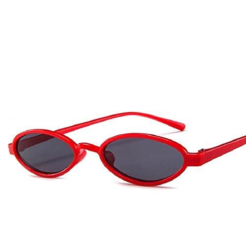 Gafas De Sol Hombre Mujeres Ciclismo Gafas De Sol De Montura Pequeña para Mujer Gafas De Sol Ovaladas con Lentes De Océano Vintage-4