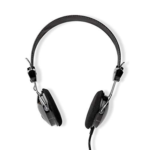 NEDIS On-Ear-Kopfhörer mit Kabel | 3.5 mm | Seillänge: 1.10 m | Schwarz 1.10 m Schwarz