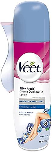 Veet Crema Spray Pelli Sensibili, 150 ml, Confezione da 3 Pezzi