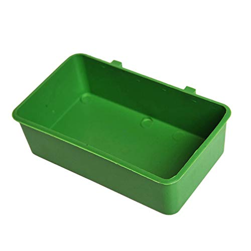 Balacoo 20pcs Plastic Hanging Cups Bird Feeding Bowl Water Feeder Cups Food Cage Cup Bird Bath Basin for Parrot Bird Poultry Cage(Green)