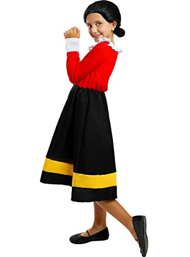 Funidelia | Disfraz de Olivia - Popeye Oficial para nia Talla 10-12 aos Popeye, Dibujos Animados - Multicolor