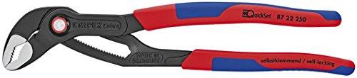 Knipex 8722250SBA 25,4cm Cobra Quickset Hightech Wasser Pumpe pliers-comfort Grip,