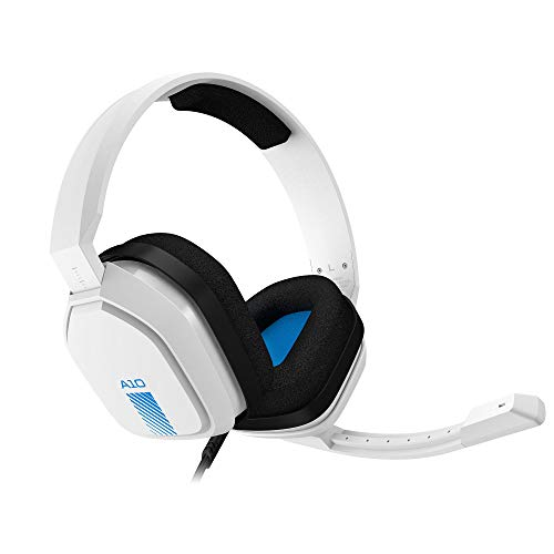 ASTRO Gaming A10 Cuffie Gaming Cablate con Microfono, Leggere e Resistenti, ASTRO Audio, Dolby ATMOS, Jack 3.5 mm, per PS5, PS4, Xbox Series X|S, Xbox One, Switch, PC, Mac, Smartphone, Bianco Blu