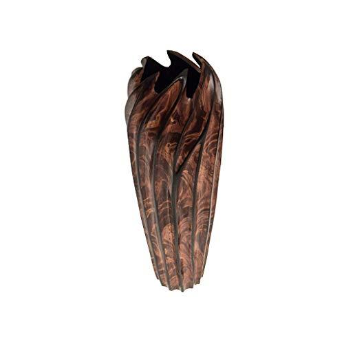ROMBOL Vase, Holzvase, Höhe 30 cm, Designvase, Deko, Dekoration, Dekovase, Holz, Braun/Schwarz