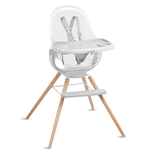 Munchkin 360° Cloud Baby High Chair with Clear Seat and 360° Swivel