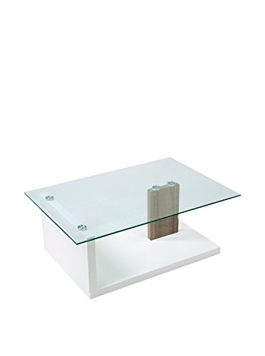 TrendyItalia Tavolino Brody Bianco/Rovere Grigio Grigio