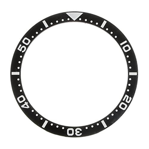 Bisel de Reloj Inserto de cerámica de cerámica de cerámica Negra a Prueba de Agua para el Reloj de Relojes de Cara Reemplace los Accesorios para Submariner Automatic Mens Watch Resiste