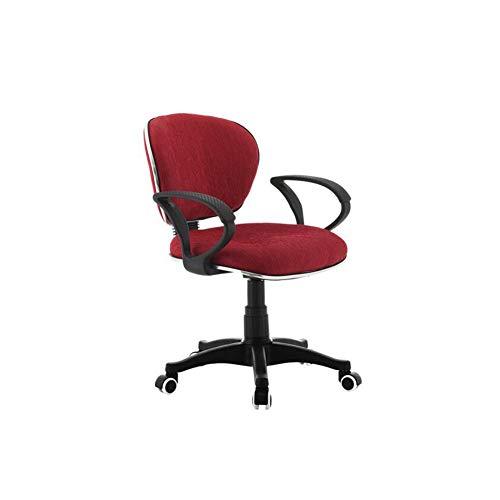JIE. SXRTLComputer - Silla de oficina, respaldo para silla de trabajo, silla elevadora, color rojo