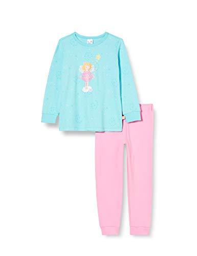 Schiesser Mädchen Prinzessin Lillifee Md Schlafanzug lang Pyjamaset, türkis, 104