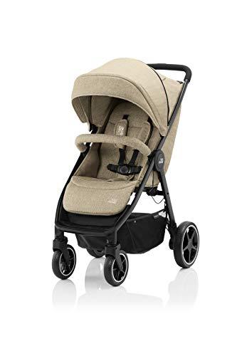 BRITAX RÖMER - Cochecito B-AGILE M, Compacto y plegable con una mano, niños de 0 a 22kg, desde el nacimiento hasta los 4 años, Linen Beige