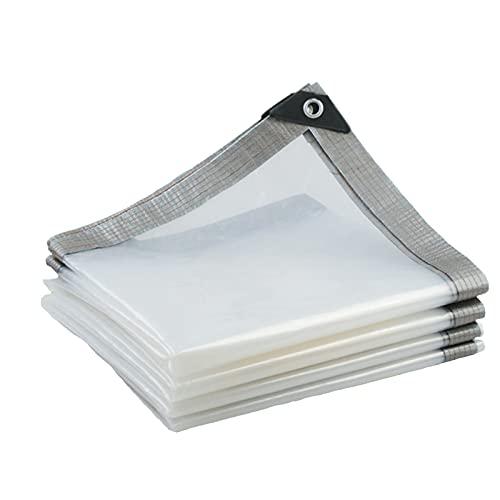 AMSXNOO Lonas Impermeables Exterior, Polietileno Antipolvo Antiedad Antidesgarro 0.15mm con Ojal, Lona Impermeable para Terrazas Patios Invernaderos (Color : Claro, Size : 4X3M)