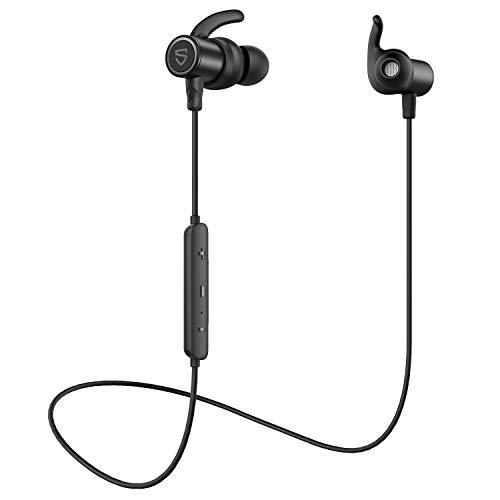 【aptX HD & AAC 対応】SOUNDPEATS Q30 HD Bluetooth イヤホン 14時間連続再生 高音質 ワイヤレスイヤホン IPX7 防水 スポーツイヤホン QCC3034チップセット採用 CVC8.0ノイズキャンセリング搭載 ブルートゥース イヤホン サウンドピーツ Bluetooth ヘッドホン [IPX7防水証書取得済、メーカー1年保証] ブラック