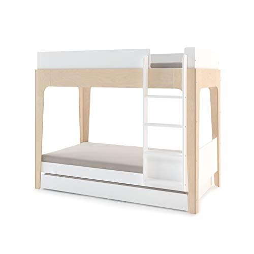 OEUF Perch Trundle Bed Twin Size - White